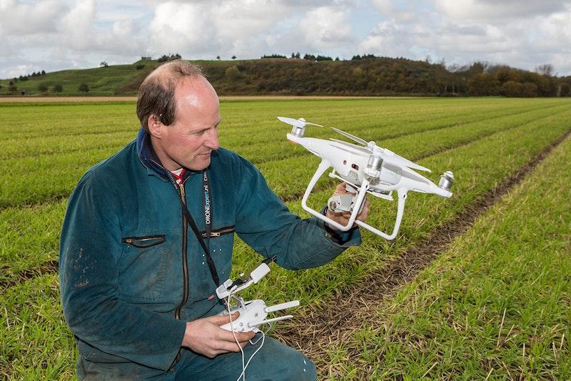 Henk Verdegaal met drone